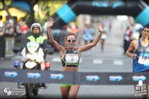 Carmen Martínez, campeona de los 21 kilómetros en la Media Maratón Internacional de Asunción