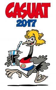 Casuat, mascota oficial del 50° Campeonato Sudamericano de Atletismo.