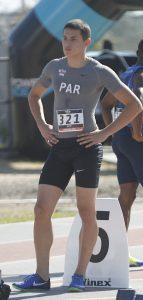 Fabrizio Aquino (15), velocista paraguayo.